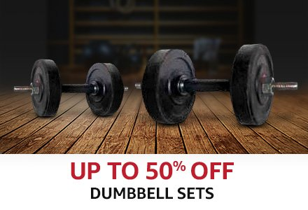 Up to 50% off Dumbbells