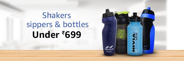 SHAKERS SIPPERS & BOTTLES UNDER 699