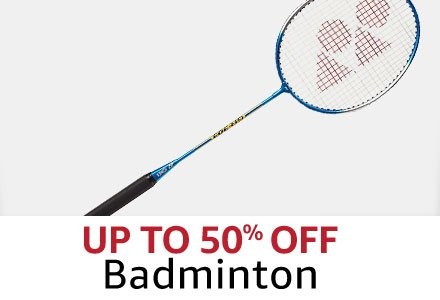 Up tp 50% off  Badminton