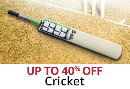 Up to 40% off Cricket
