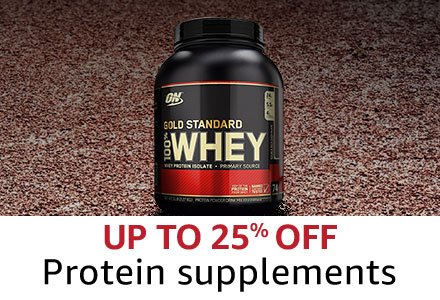 Up to 25% off Protein suppliments