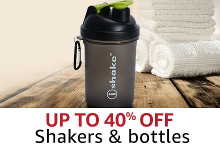 Up to 40% off  Shakers & Bottles