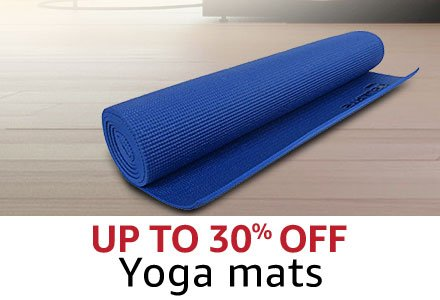 Up to 30%  Yoga mats