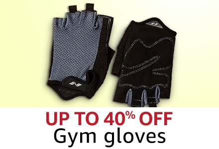 Up to 40% off gyms gloves
