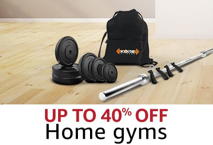 Up to 40% off  Home gyms