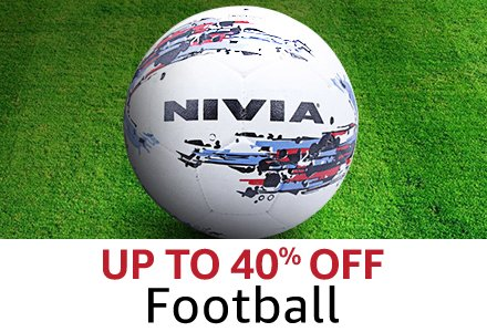 Upto 40% off Football