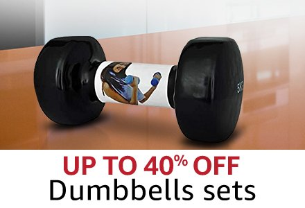Up to 40%  Dumbbells