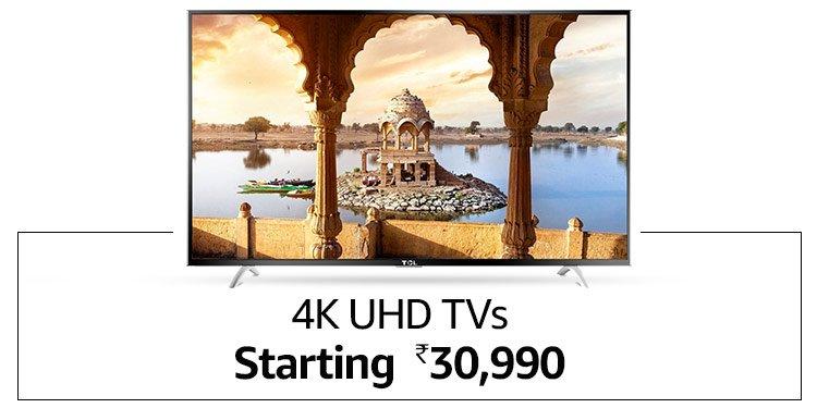 4K UHD TVs - Starting Rs.30,990