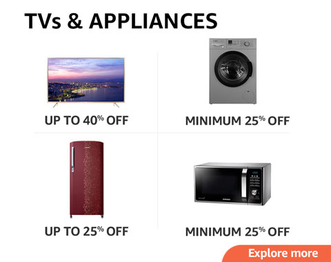 TVs and large appliances