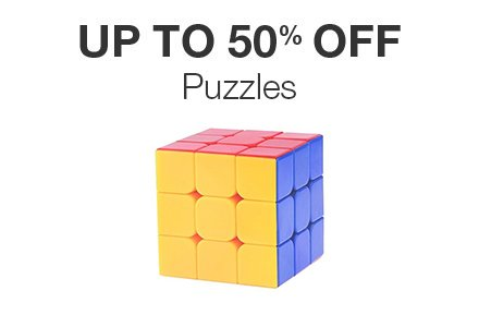 Upto 50% off Puzzles