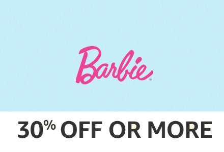 Barbie: 30% off or more