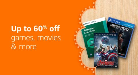 Up to 60% off: Games and entertainment