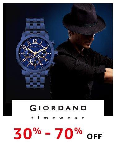 Giordano : 30% - 70% Off
