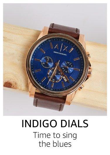 Indigo blue dials