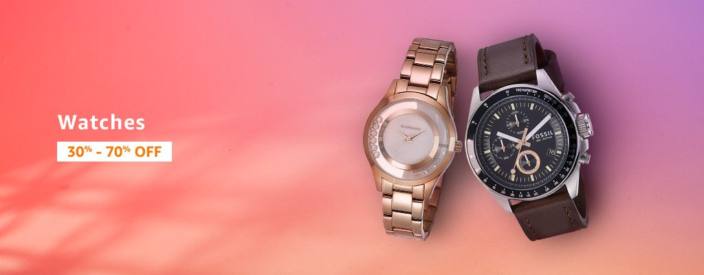 Watches: 30% - 70% off