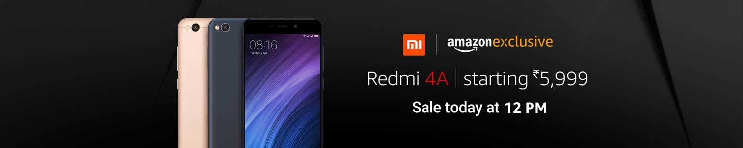 Buy Redmi 4A Sale Starts @ Rs.5999 From Amazon