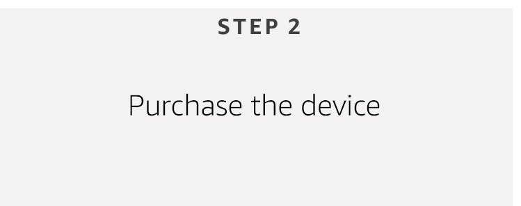 purchase the device