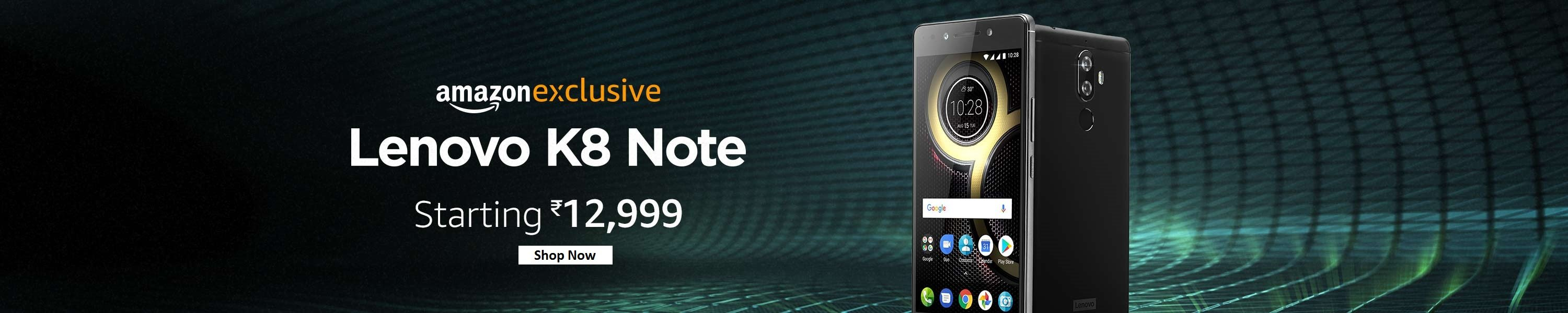 Lenovo K8 Note open sale