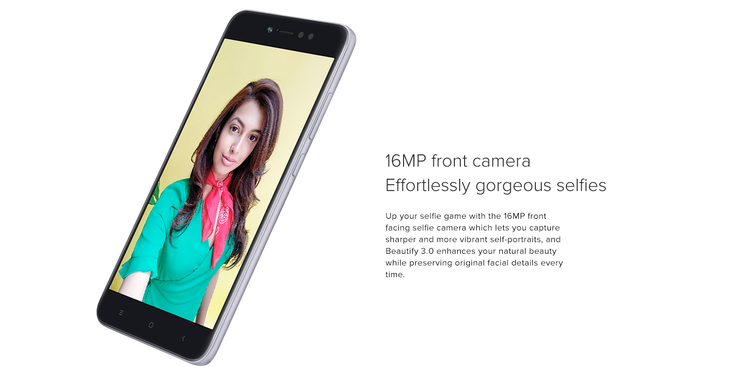 16MP front camera