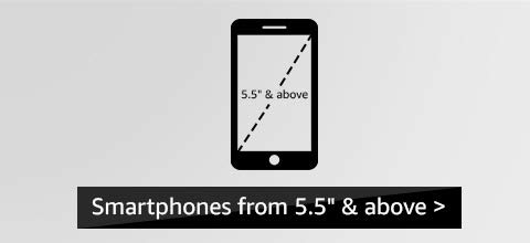 5.5 inch & above display