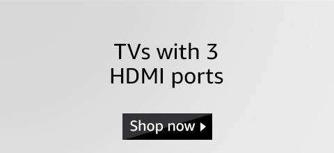 TV with 3 hdmi port