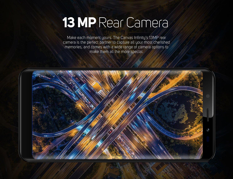 13 Mp rear camera