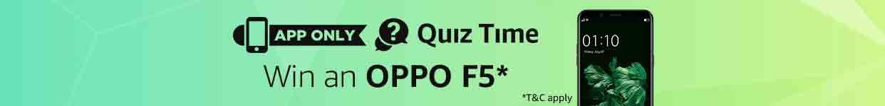 OPPO F5 Quiz Winners