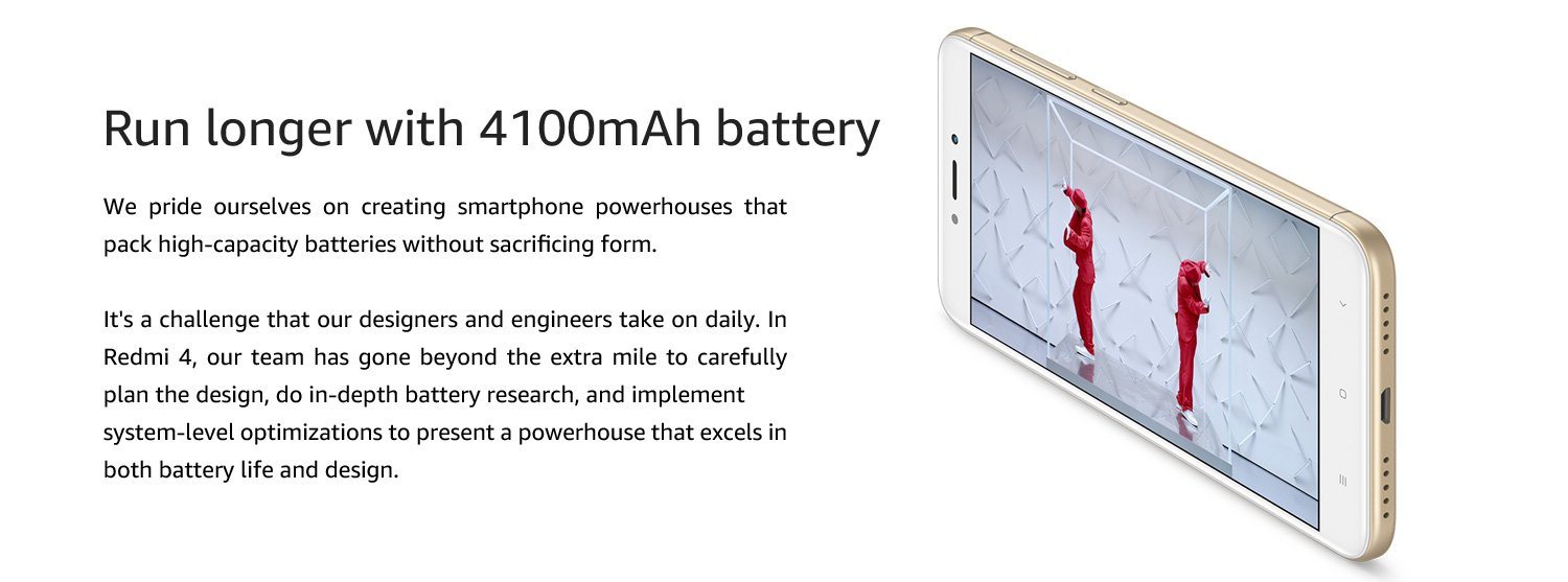 Run Longer with 4100mAh battery