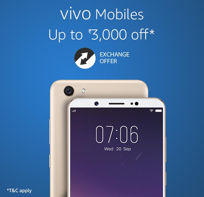 Vivo Mobiles Upto 3,000 off