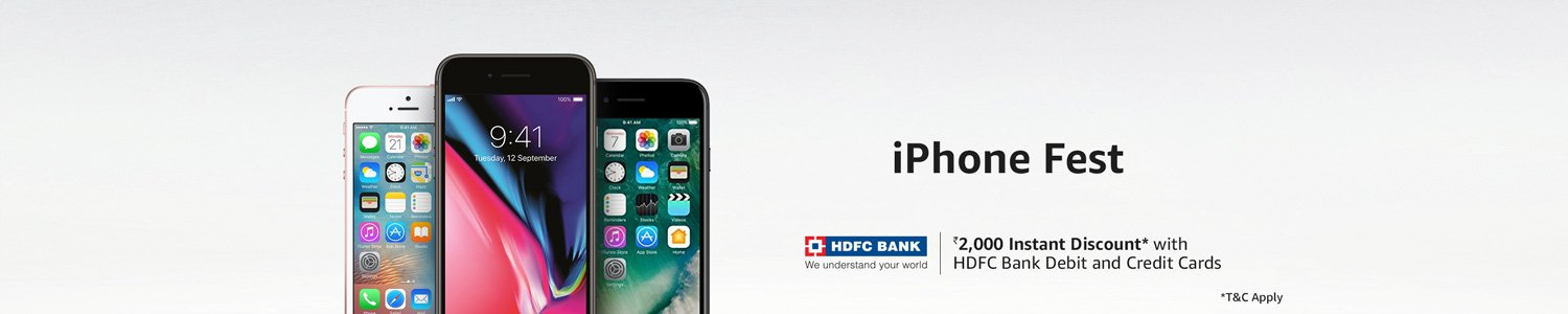 iPhone Fest - Flat Rs.2000 Instant Discounts and other great offere