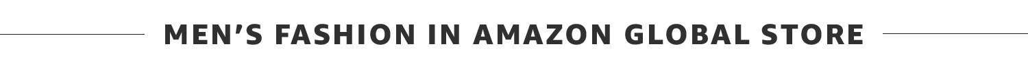 Mens fashion in amazon global store