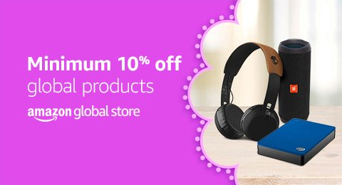 Minimum 10% off Amazon Global Store