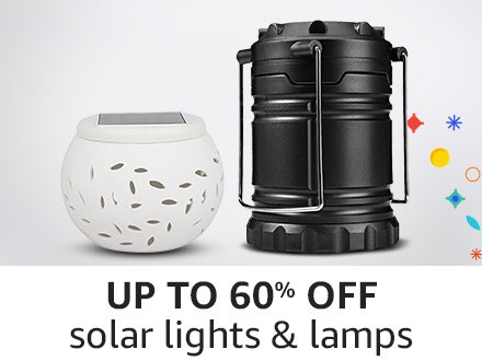 Up to 60% off solarlights & lamps