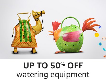 Up to 50 % off watering equipment