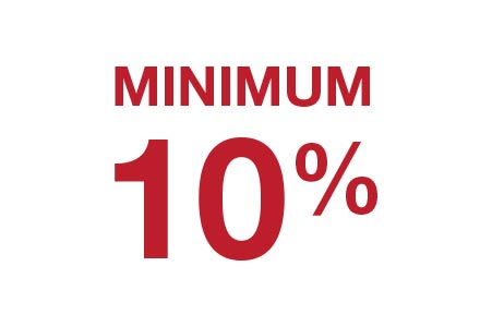Minimum 10% off