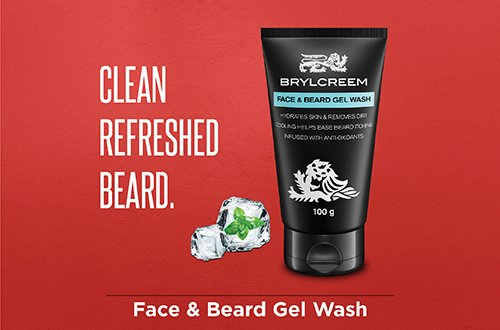 Face & beard gel wash