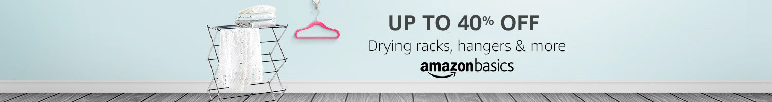 Up to 40% off: Drying racks, hangers & more