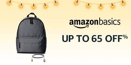 Up to 65% off: AmazonBasics