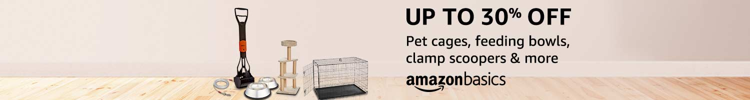 AmazonBasics pet accessories up to 30% off