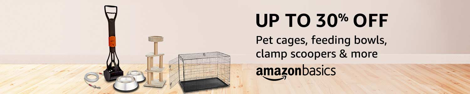 Up to 30% off on Pet accessories from AmazonBasics