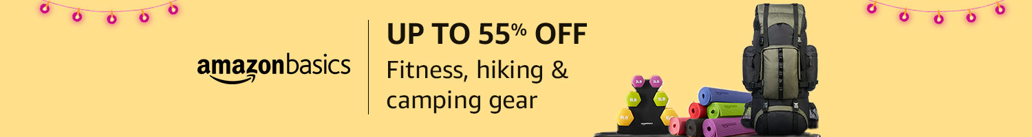 Up to 55% off: Fitness, hiking & camping gear from AmazonBasics