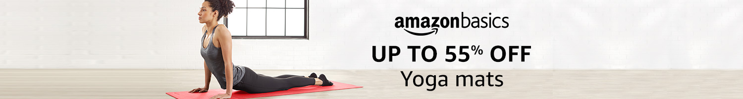 Up to 55% off: Yoga mats from AmazonBasics