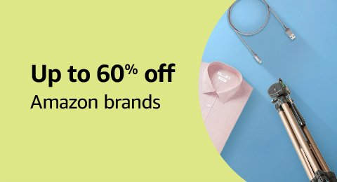 Up to 60% off: Amazon Brands