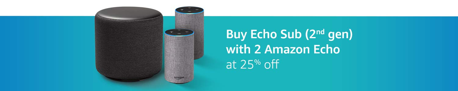 Echo Sub and Echo Amazon