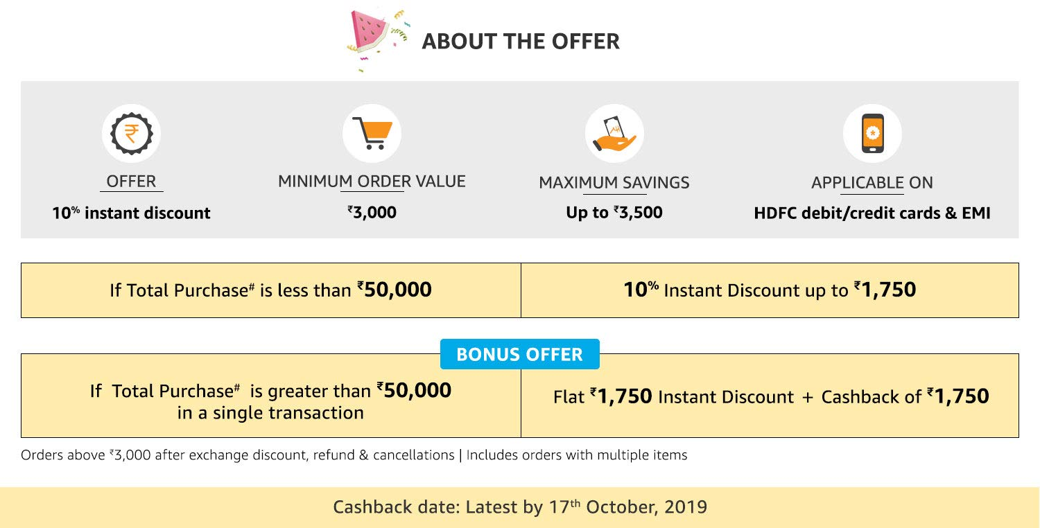 Amazon in: Prime Day 2019 Cashback and Instant discount