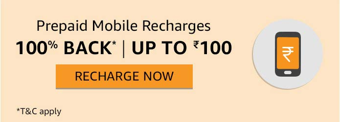 (Loot) Amazon – Rs.130 Cashback on Rs.100 Recharge Free for Prime
