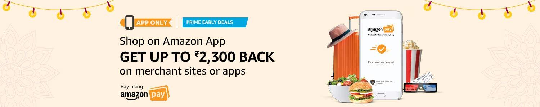 Get Rs. 2,300/- cashback on Amazon shopee