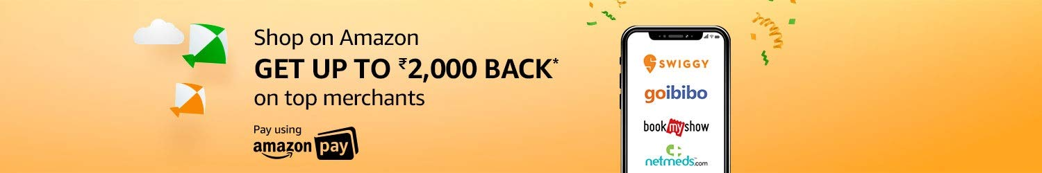 Shop & get up to Rs.2,000 on top merchants