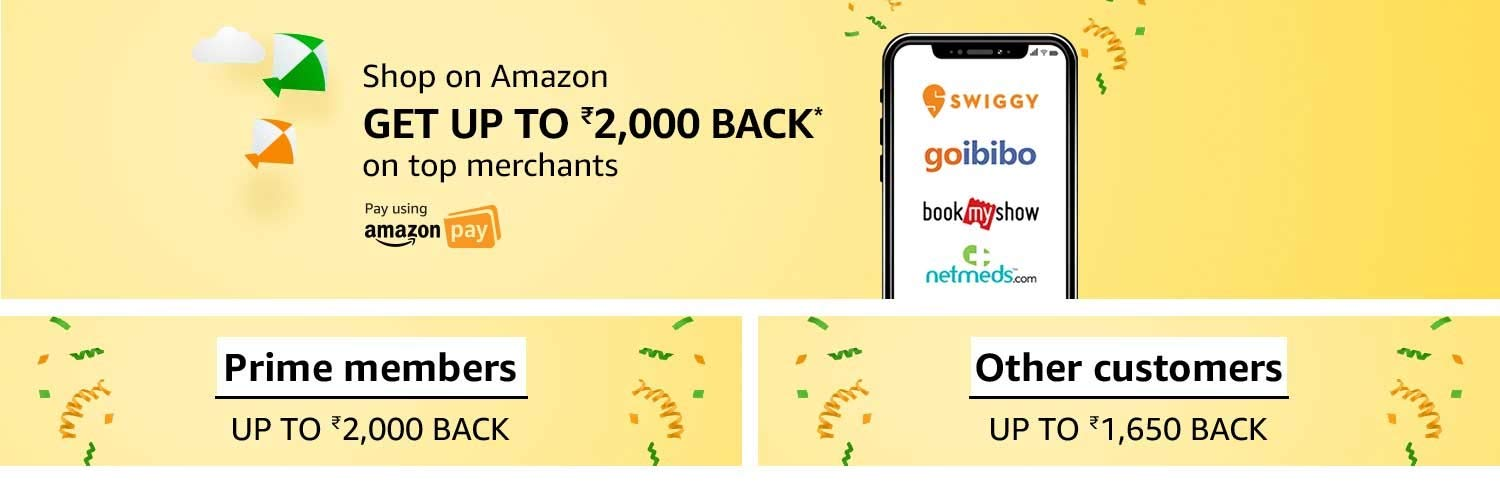 Shop on Amazon & get up to Rs.2,000 on top merchants