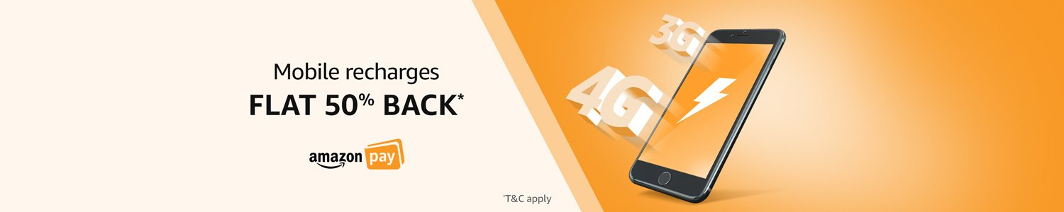Mobile Recharges flat Rs.50 back